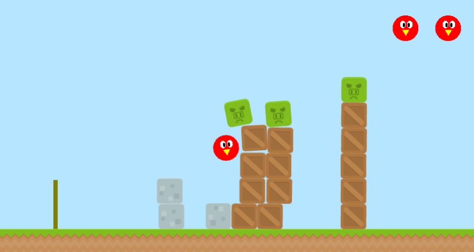 Angry Chickens 2D simulation game
