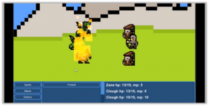 Turn-based battle example made with Unity