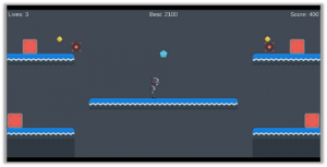 Screen wrapping platformer made with Unity